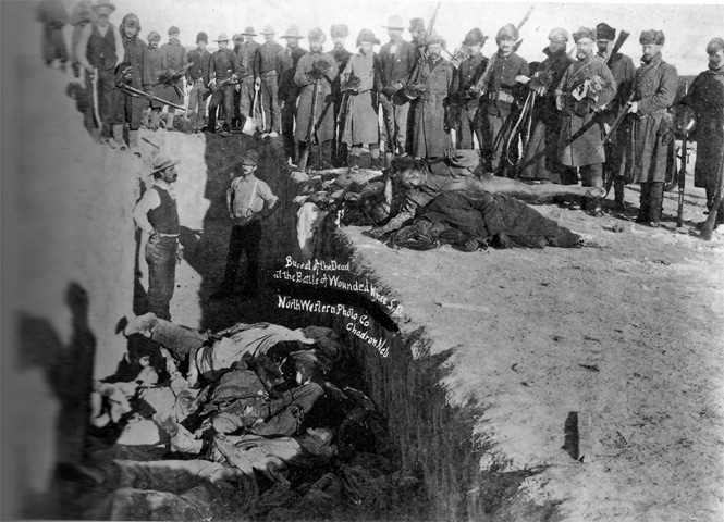 a history of the wounded knee massacre in the united states Wounded knee: wounded knee, hamlet and creek on the pine ridge indian reservation in south dakota, the site of two conflicts between native americans and the us government—a massacre in 1890 in which more than 200 sioux were killed by the army and an occupation led by the american indian movement in 1973.